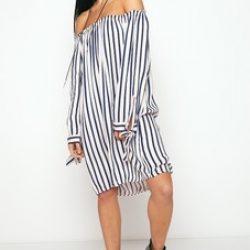 http://www.misspap.co.uk/justine-nude-striped-bardot-dress/