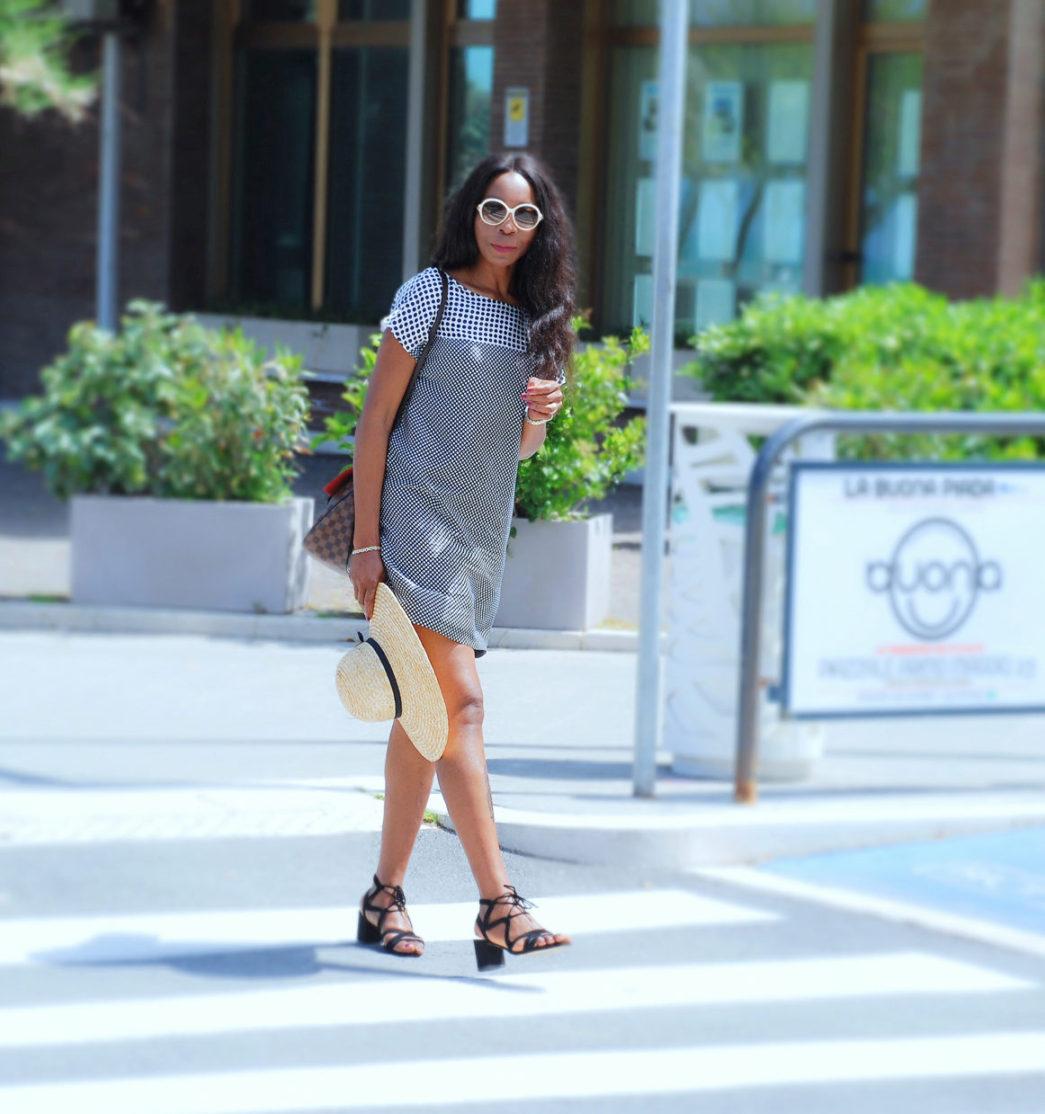 Little midi Polka Dot Dress : Style Sequence
